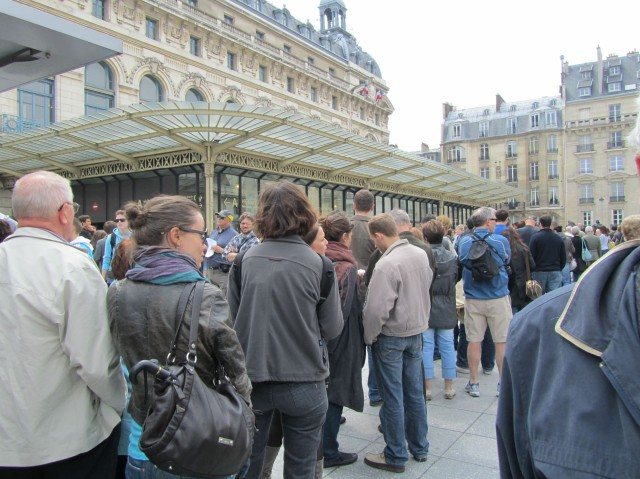 Queue at d'Orsay