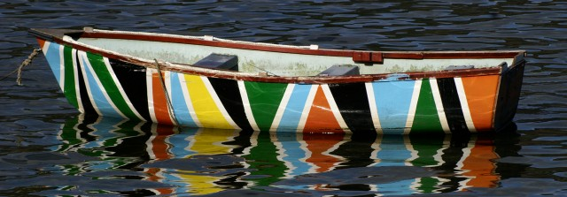 Boat of many colours